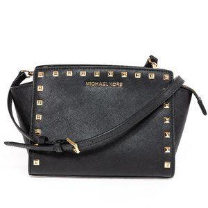 MICHAEL KORS Black Studded Shoulder Bag
